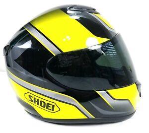 Shoei-Qwest-Overt-Full-Face-Street-Helmet-Size-Large-Hi-Viz-For-Safety-Black