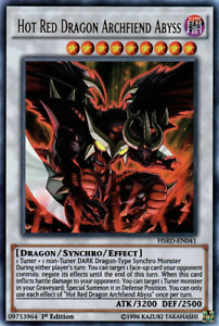 YUGIOH HSRD-EN041 HOT RED DRAGON ARCHFIEND ABYSS 1ST EDITION ULTRA RARE