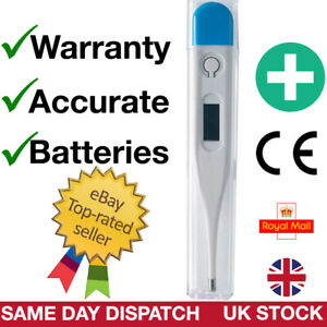 Digital Temperature Lcd Thermometer Fever Baby Adult Oral Underarm Mouth Uk Ebay