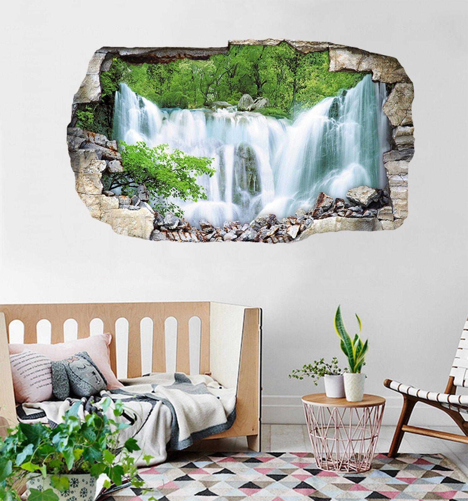 3D Wasserfall 198 Mauer Murals Mauer Aufklebe Decal Durchbruch AJ WALLPAPER DE
