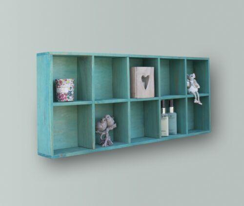 Compartiment Murale Étagère Rustique En bois stockage affichage étagères Présentoir NEUF