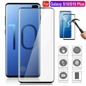 Samsung-Galaxy-S10-Plus-SchutzGlas-Glasfolie-Tempered-5D-Glass-Echt-FULL-COVER