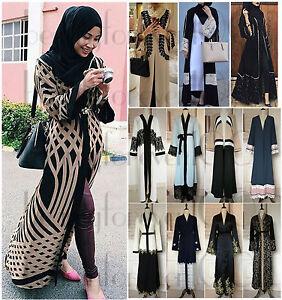 Women-Muslim-Abaya-Kaftan-Long-Sleeve-Cardigan-Islamic-Cocktail-Arab-Maxi-Dress