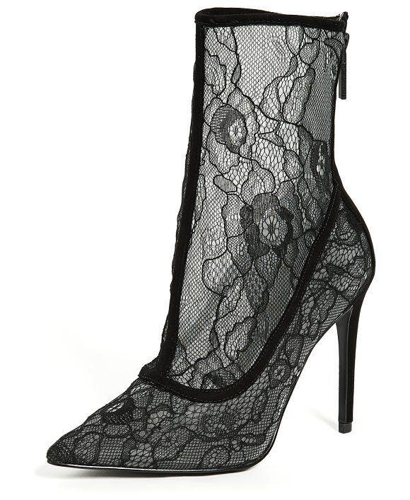 alta qualità  175 Dimensione 10 KENDALL KENDALL KENDALL + KYLIE Alanna nero Lace Ankle avvioies donna scarpe NEW  ordina ora goditi un grande sconto