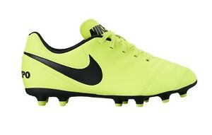 best sneakers bac98 703ca Image is loading Nike-Tiempo-Rio-III-FG-Kids-Football-Boots-