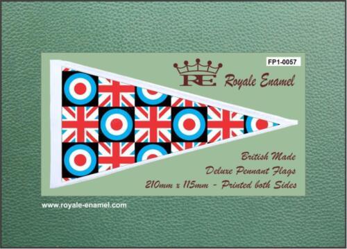 FP1.0057 MOD TARGET UNION JACK CHECKS Royale Antenna Pennant Flag