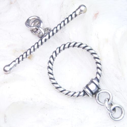 TG08 Toggle  25mm SILBER 925 Verschluss f Kette u Armband silver clasp 25mm