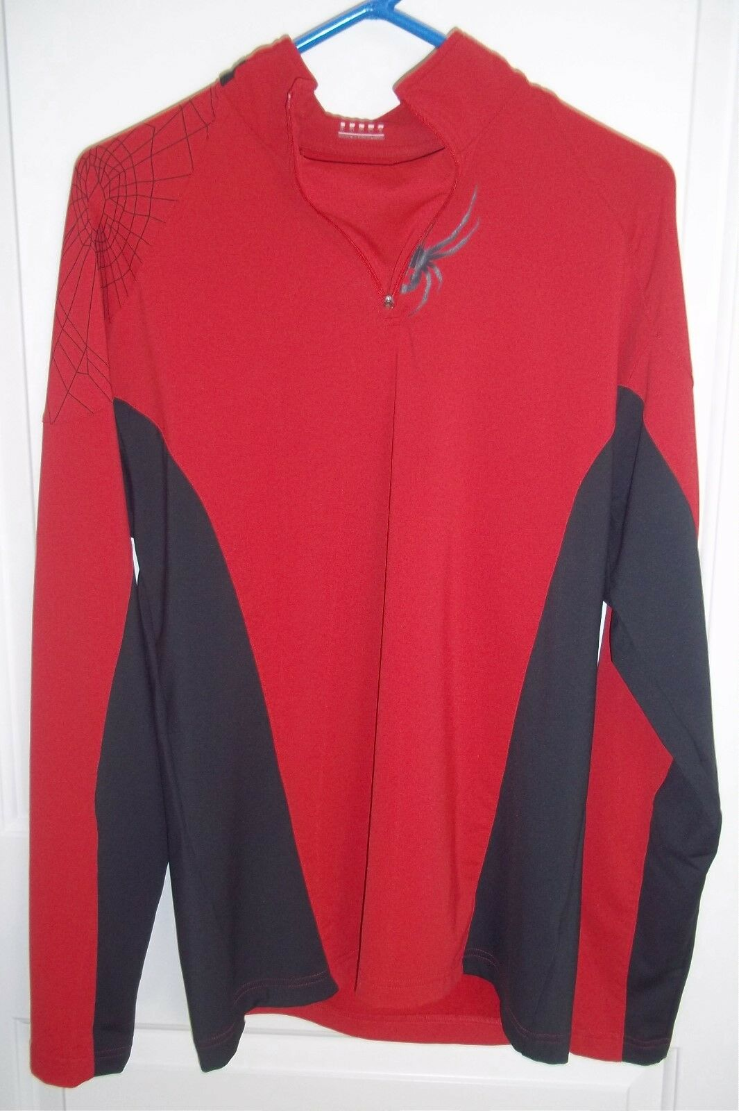SPYDER Base Layer Top Shirt 1 4 Zipped Ski MENS Medium