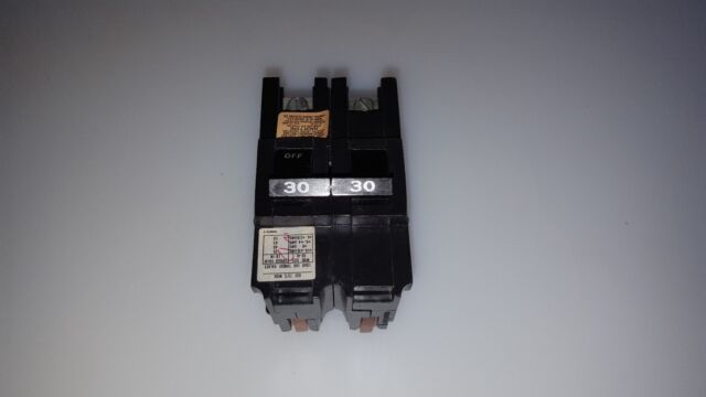FLAW FEDERAL PACIFIC FPE NA230 2 POLE 30 AMP  CIRCUIT BREAKER THICK