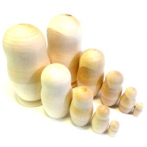 5-pc-Big-Large-Blank-Unpainted-Russian-Matryoshka-Nesting-Wooden-Dolls
