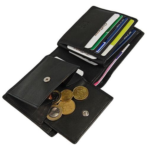 Branco Sottile Portafoglio Uomo Pelle Portafoglio Uomo Borsa RFID Protezione 60944