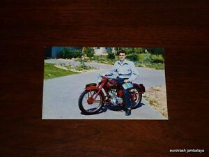 Vintage Triumph Postcard 150 Terrier schoolboy Johnson Motors nos pre unit era