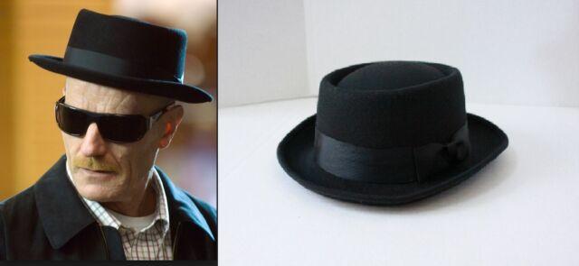 Halloween Party Heisenberg Style Black Hat Walter White Breaking Bad G2220 7d08ddb5b61