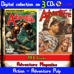 Adventure-Magazine-Pulp-action-adventure-mystery-HUGE-COLLECTION-193-issues
