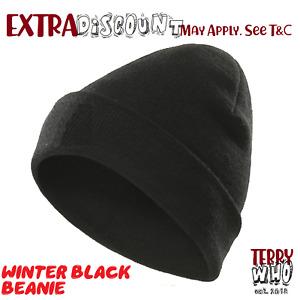 Men's Women Beanie Knit Ski Cap Hip-Hop Black Color Winter Warm Unisex Wool Hat