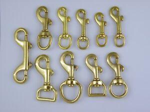 Image Is Loading Solid Brass Trigger Hooks Swivel Snap Hook Clip