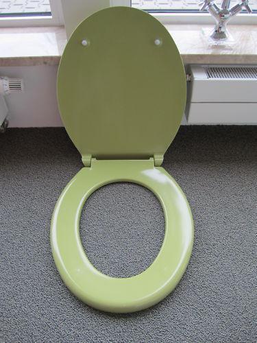 WC Sitz Pagette Exclusiv moosgrün oliv grün mit Edelstahlbefestigung 7.9082-1607