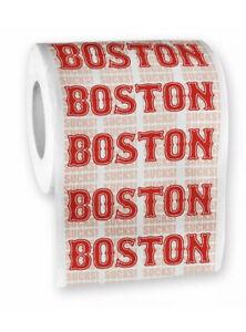Boston Sucks Toilet Paper Roll 3 Ply party gag gift joke Set Of 2 Rolls
