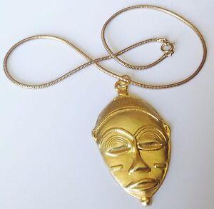 collier-chaine-ronde-pendentif-retro-masque-indigene-en-relief-couleur-or-5309