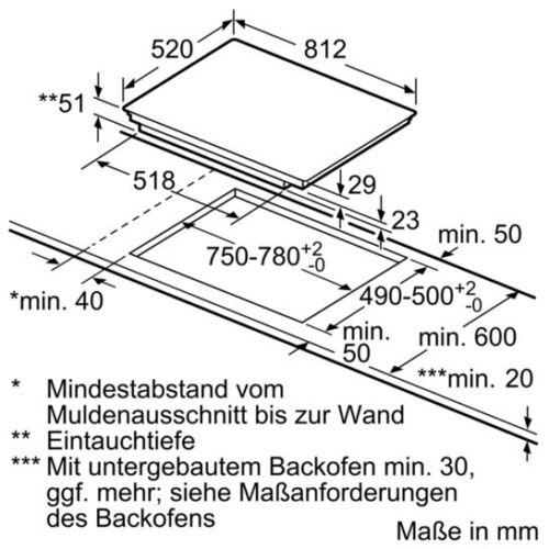 Siemens Kochfeld Eh875lec1e Induktion 80 Cm Autark Facetten Design