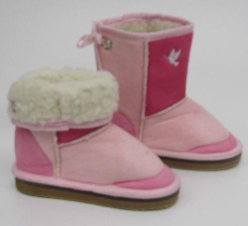 Girls Childrens Pink Boots LED flashing lights  infants new kids