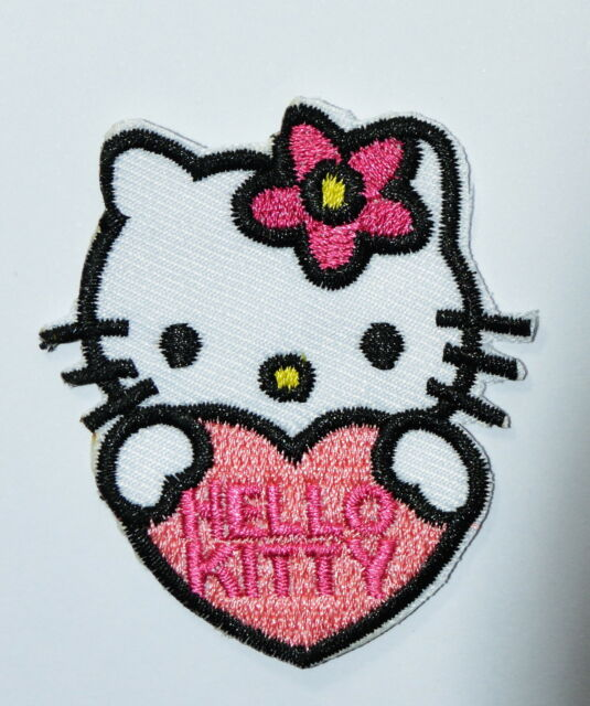 2fef777d5 Lovely Hello Kitty Pink Love Embroidery Iron on Patches Clothes / Sew #2