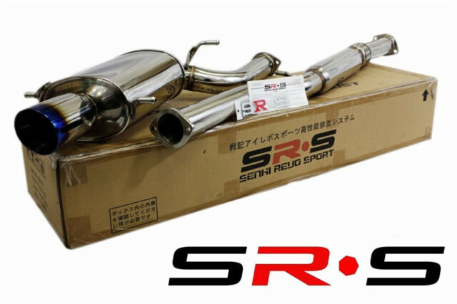 SRS FULL Stainless STEEL Catback Exhaust TYPE-RE WRX 02-07 Subaru RS Burnt TIP