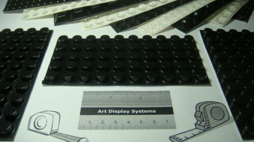 "SAMPLES 50 SELF ADHESIVE RUBBER FEET BUMPERS 0.5/""  x 0.25/"" BLACK BUMPER FEET"
