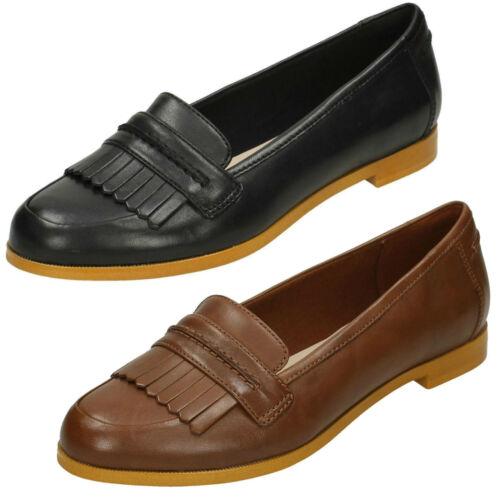 Clarks Mocassins D Slip Cuir Smart Ladies Crush Style Chaussures Andora De En Ajustement Sur nkwOX8N0PZ