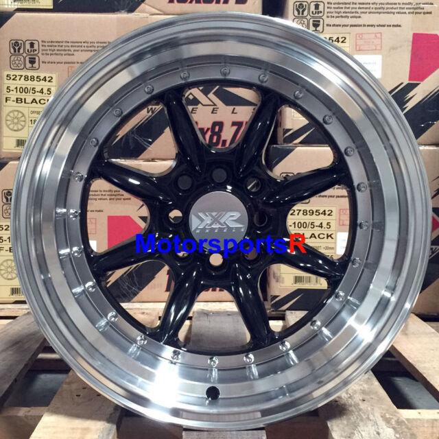 XXR 002.5 Wheels 16 X 8 +0 Black Rims Step Lip 4x100