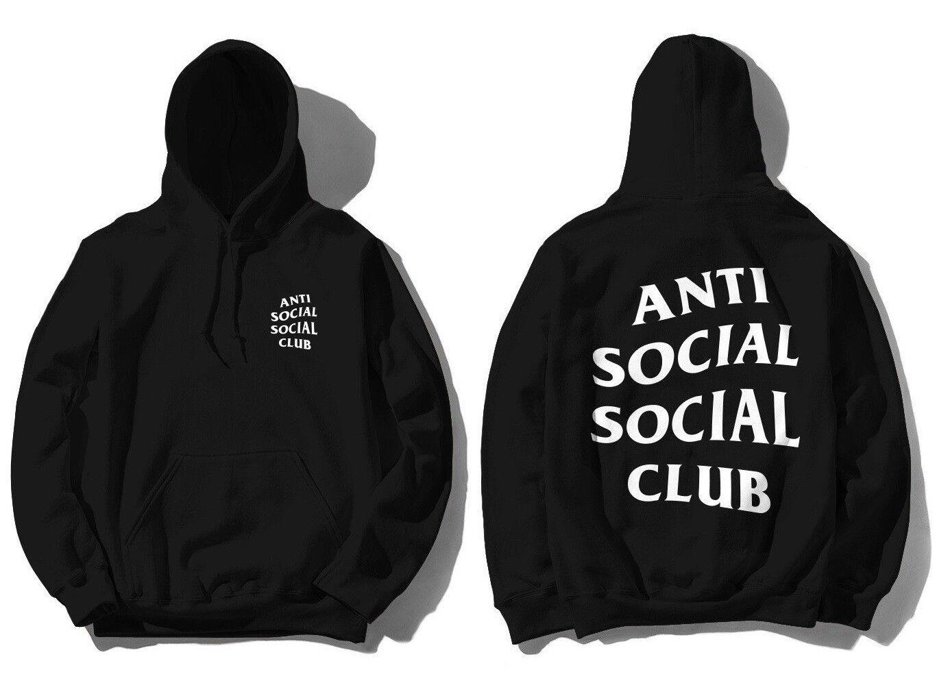 DS SS20 Anti Social Social Club ASSC White logo Mind Games Black Hoodie in hand