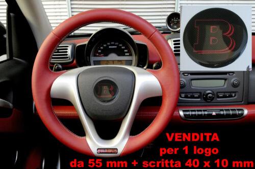 KIT TUNING ADESIVO RESINATO PER VOLANTE 3D 3M SMART BRABUS ROSSO CARBONIO 55 mm