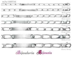 Bracelet-Maille-CHEVAL-Gravure-Identite-Argent-Massif-925-000-Tailles-au-CHOIX