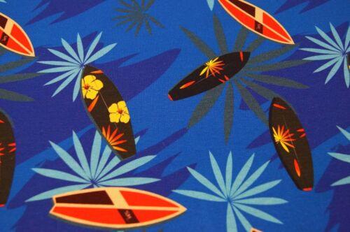 Jerseystoff  150cmx50cm  Digitaldruck  Surfbrett Palmen blau