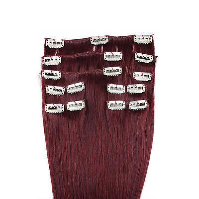 Remy Haarverlängerung Clip in Extensions Echthaar Set Echte Haare 9 Tressen dick