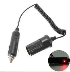 12V-4-FT-3A-Coiled-Cord-With-Red-LED-Power-Light