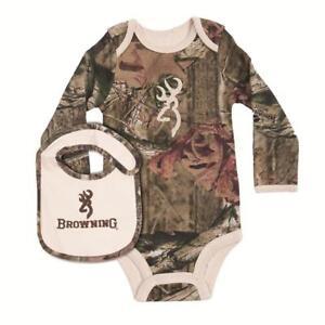 Browning Baby Tan Bodysuit Long Sleeve