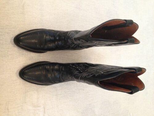 Size 9 Dan Post Exotic Lizard Skin Western Boots