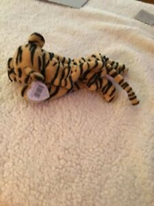 STRIPES THE TIGER #4065 ORANGE AND BLACK TY BEANIE BABY MWMTs
