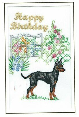 Tibetan Terrier Birthday Card Embroidered by Dogmania FREE PERSONALISATION