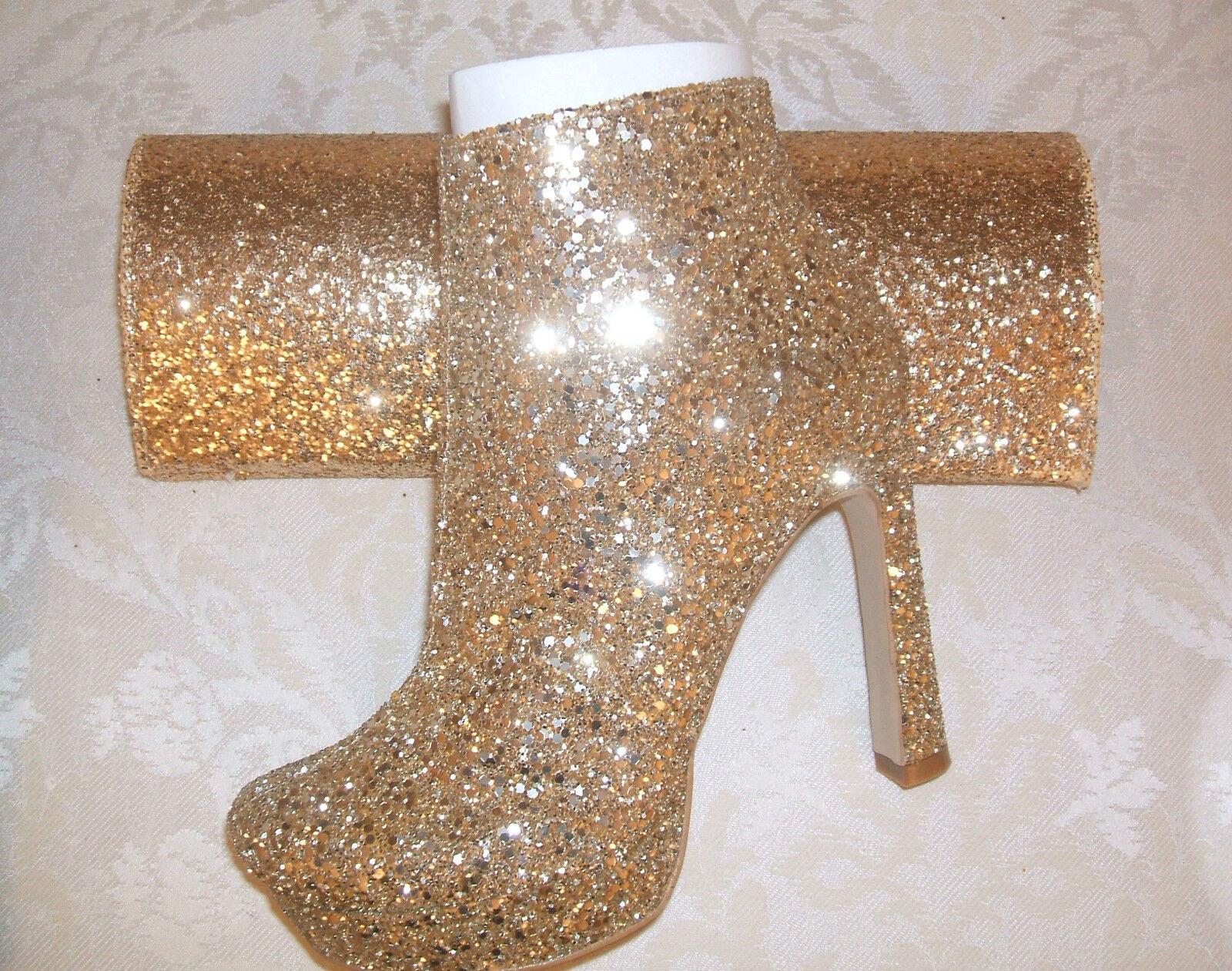 BNWB   DUNE SIZE 3 3.5 GLITTER 4 KLASSY D GOLD GLITTER 3.5 ANKLE Stiefel Schuhe BAG XTRA 4c64e4