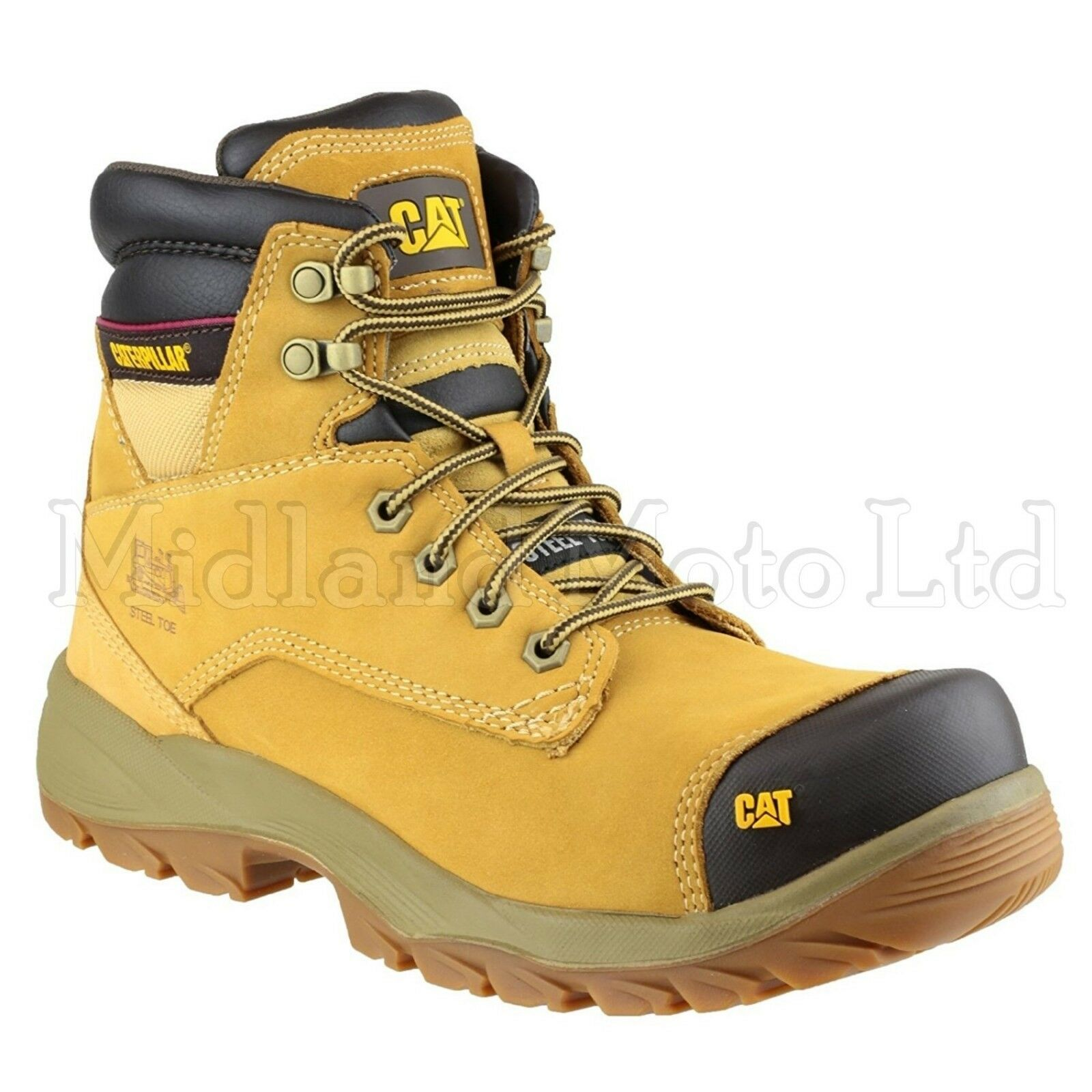 Caterpillar Spiro S3 Steel Toe Cap Safety Honey Nubuck Stiefel, CAT, schuhe 7050