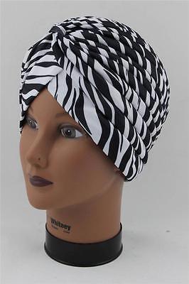 Turban Stretchy Zebra Animal Chemo Head Wrap Beanie Snow Ski Hat Cap KP-37 D55