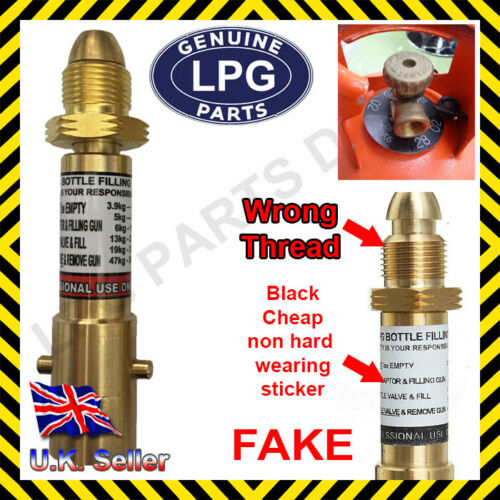 LPG Propane RED Bottle adaptor with NON RETURN VALVE gas autogas caravan boat ca