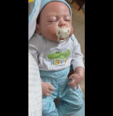 Handmade Reborn Toddler Boy Dolls Silicone Full Body Bath Reborn Baby Dolls Boys