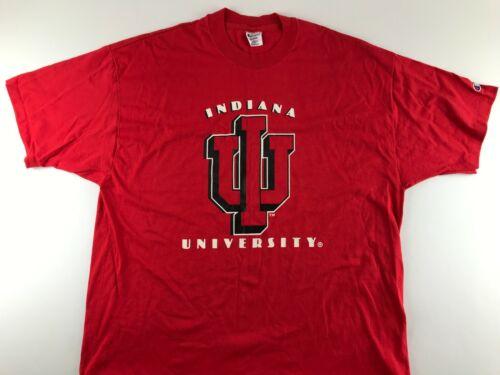 Vintage IU Indiana University Hoosiers 2XL Red Sin