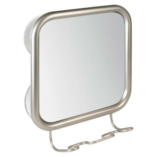 Mirror Suction Brushed Nickel Interdesign Silver