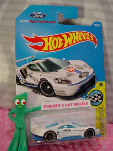 New 2016 FORD GT RACE #247✰white;j5;16✰Speed Graphics✰2017 i Hot Wheels case L//M