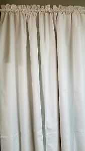 Image Is Loading Blackout Curtain White 54 034 Wide