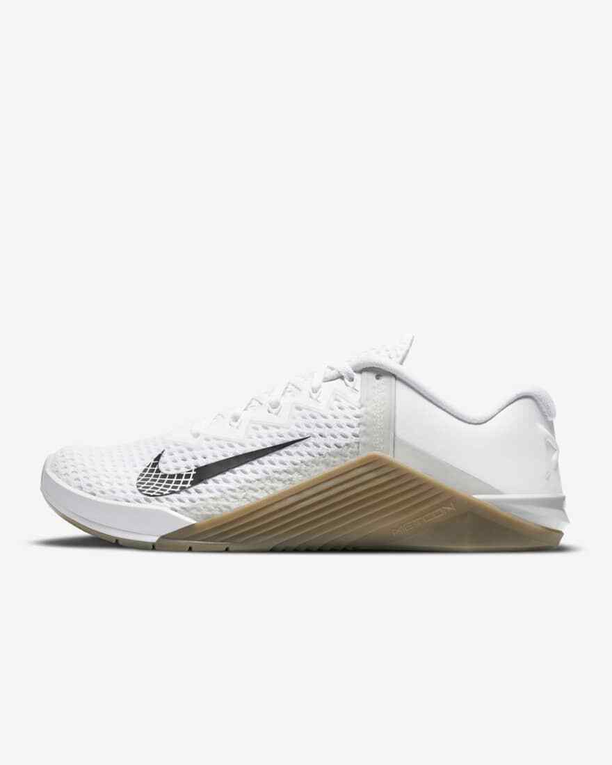 NIB Men's Nike Metcon 6 White Gray Training Shoes Size 10.5, 11, 12 MSRP